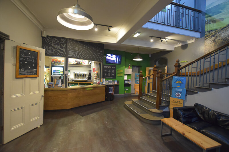 Reception at YHA Edale