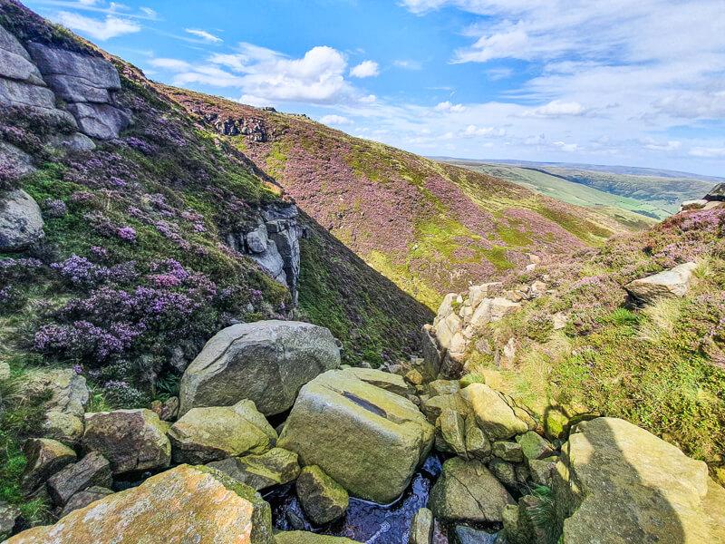 Views from top of Peak District scramble
