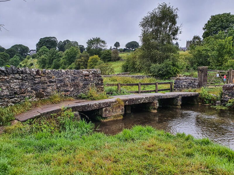 Stone bridge across river