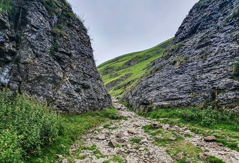 Rocky footpath in Cave Dale