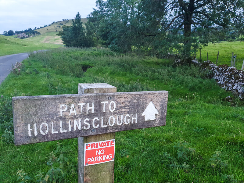 Signpost to Hollinsclough