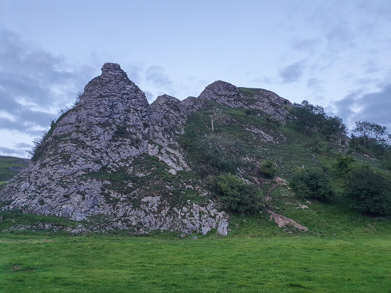 Rocky base of Parkhouse Hill