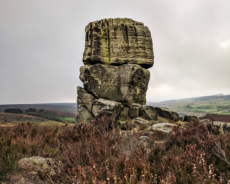 Head Stone rocks near Rod Moor