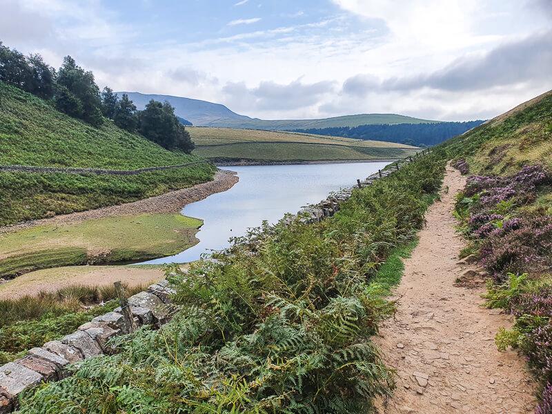 Footpath next to reservoir