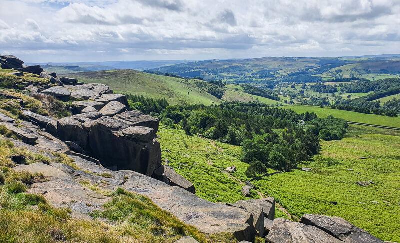 Stanage Edge walk in Peak District