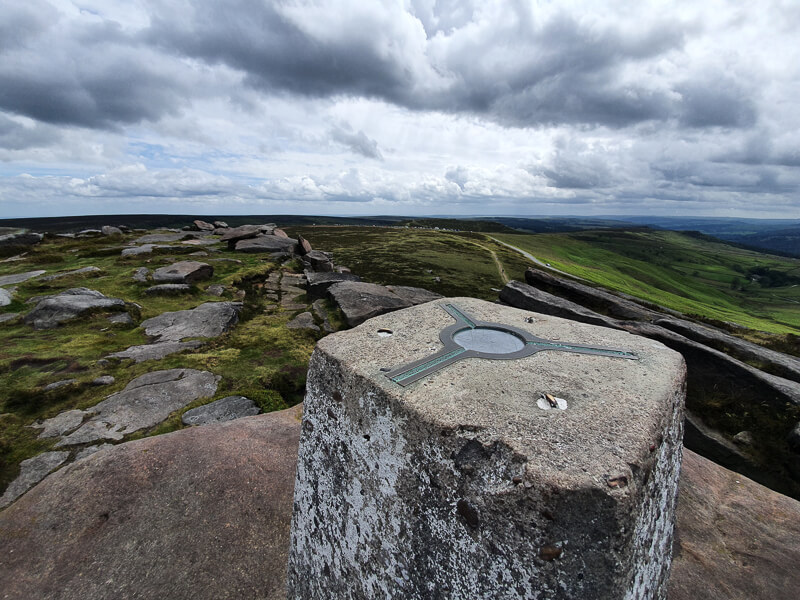 Stanage Edge trig point