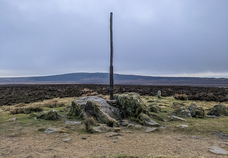 Stanage Pole in Peak District