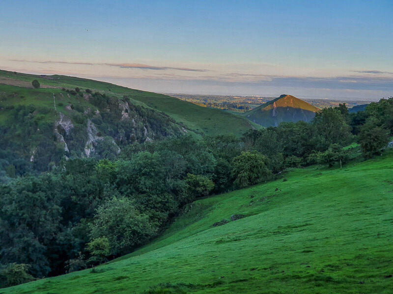 Hills in distance