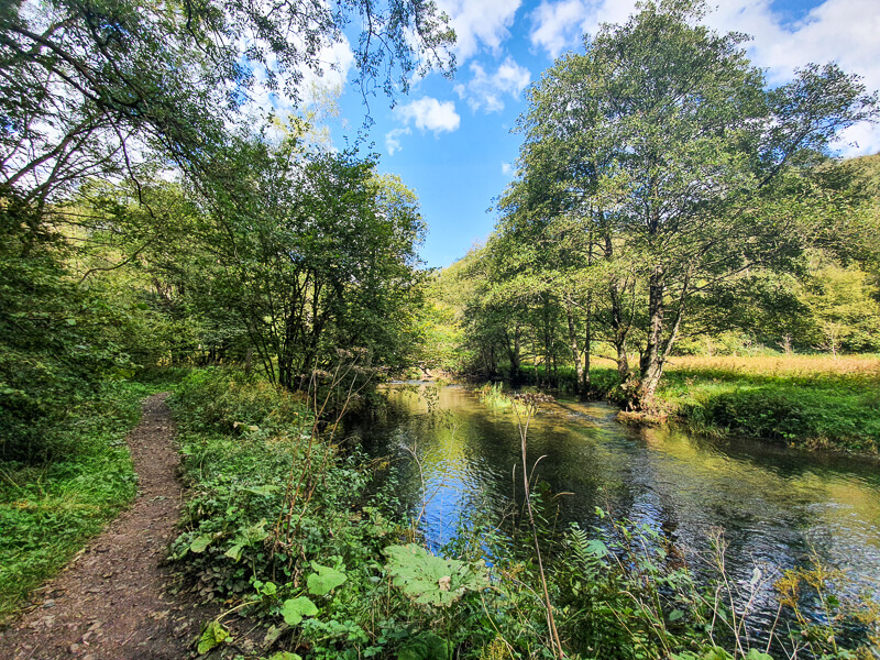 Milldale walk through Dovedale