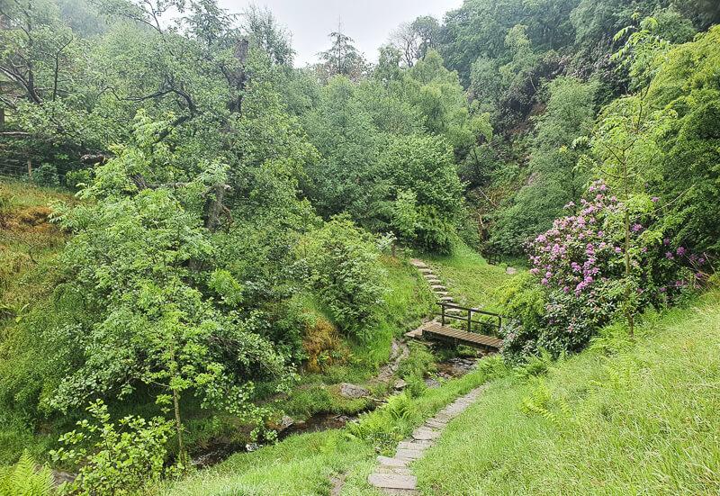 Bridge on Shining Tor walk