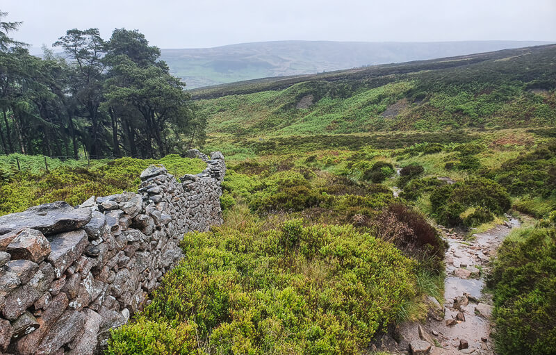 Rocky path and drystone wall