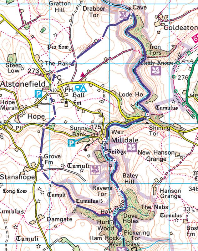 Alstonefield walk map