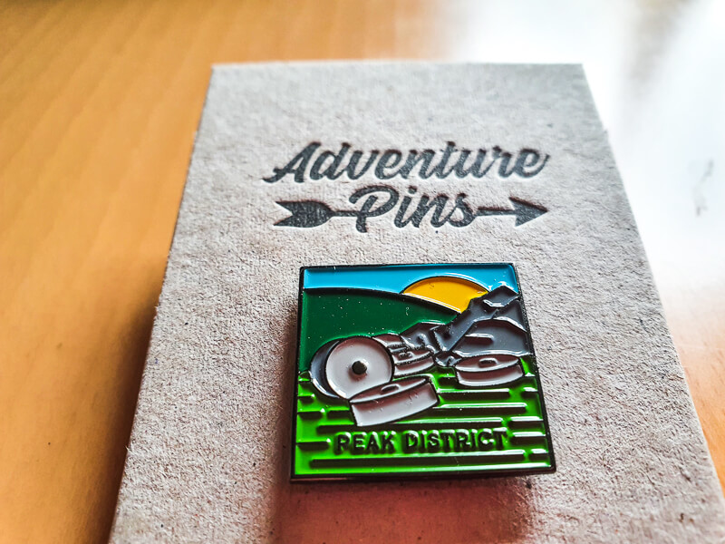 Peak District Adventure Pin