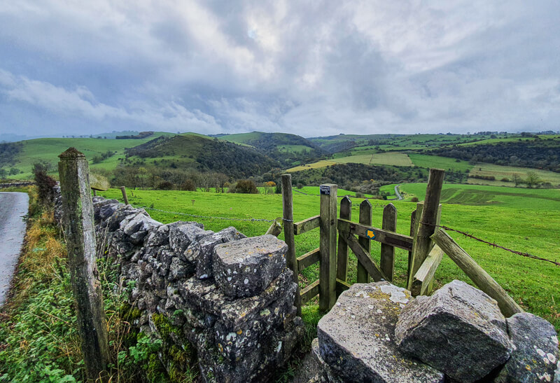Wooden gate down to Manifold Valley