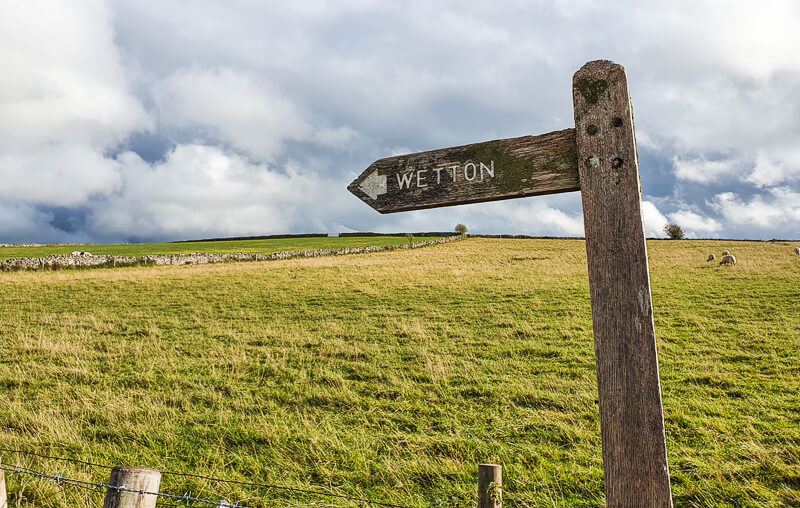 Signpost for Wetton