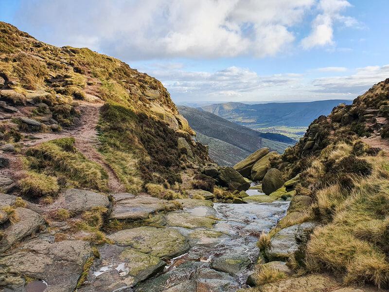 Views between gap to hills