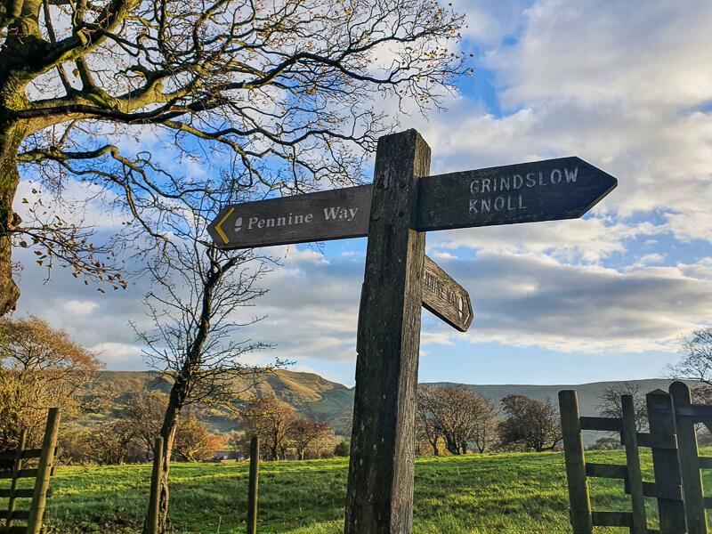 Signpost of Pennine Way