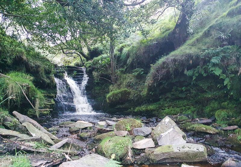Waterfall in Peak District