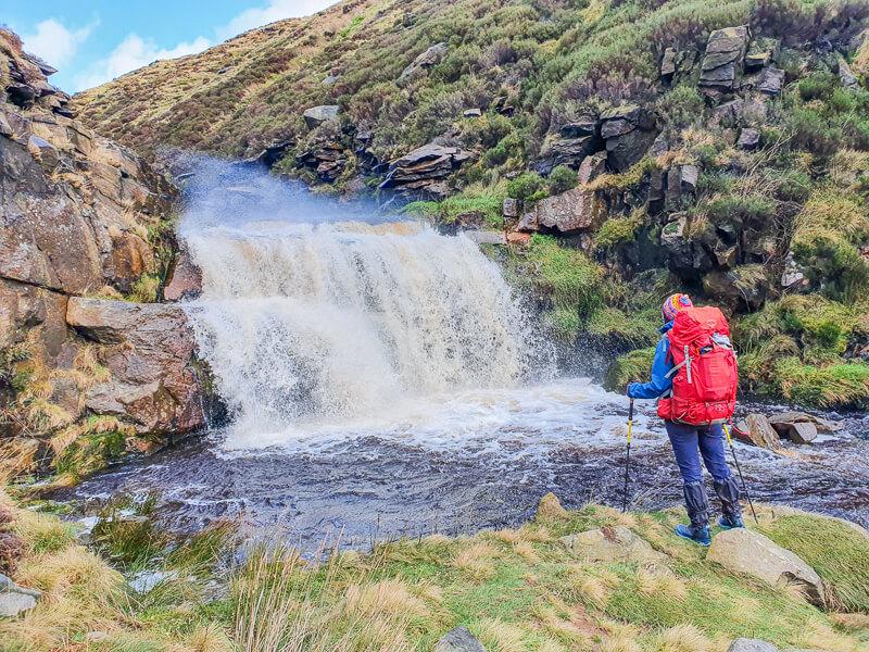 Secret waterfall in Peak District