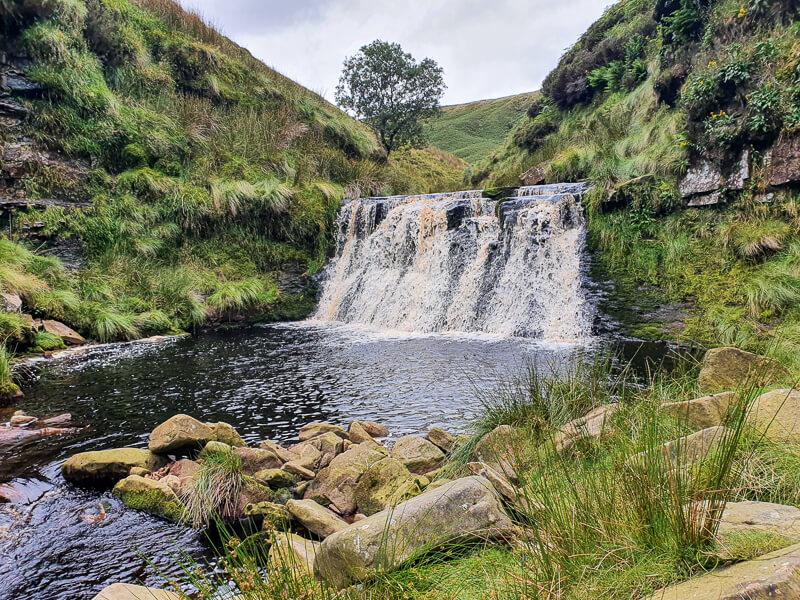 River Alport waterfall
