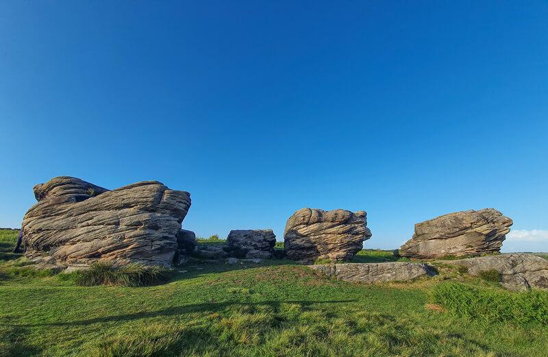 Rock formations on Birchen Edge