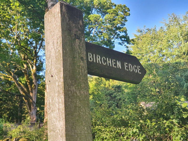 Birchen Edge signpost