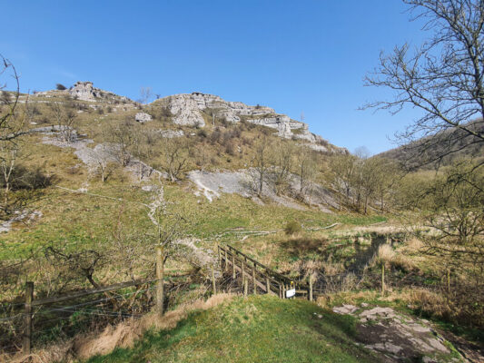 Lathkill Dale walk limestone cliffs
