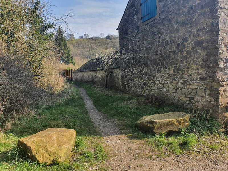 Footpath next to building