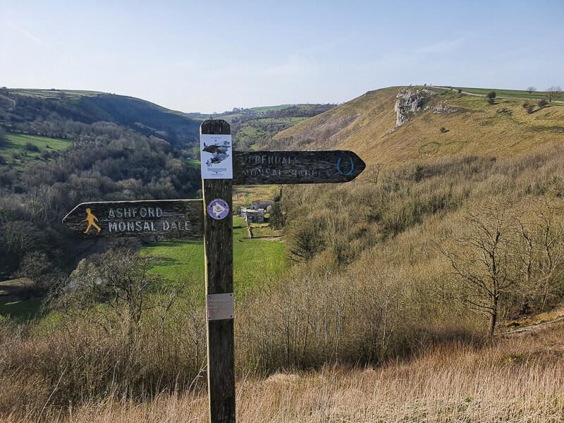Signpost at Monsal Head