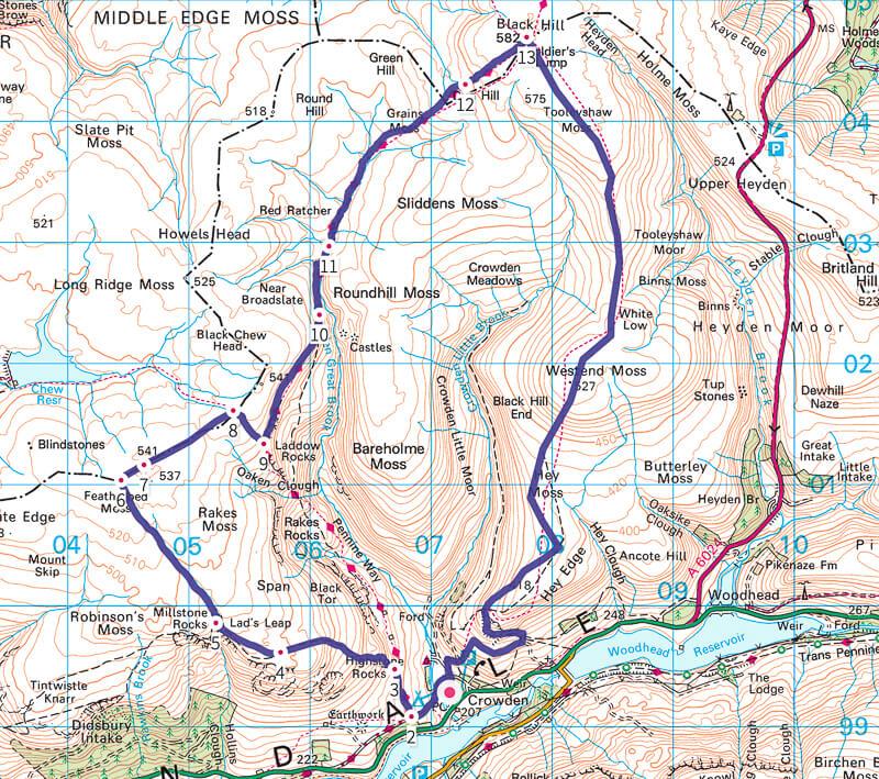 Crowden map