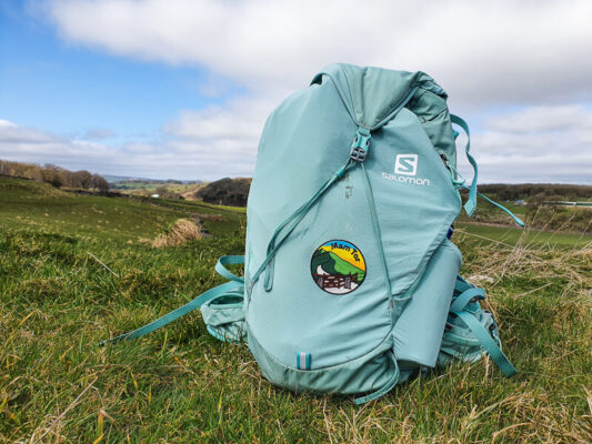 Salomon Packpack with Mam Tor Patch