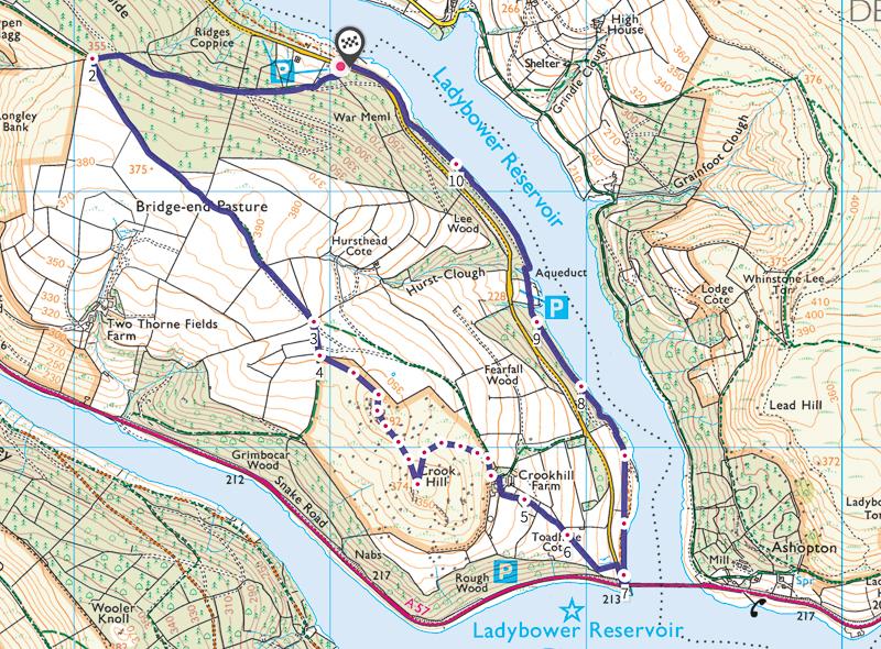 Crook Hill walk map