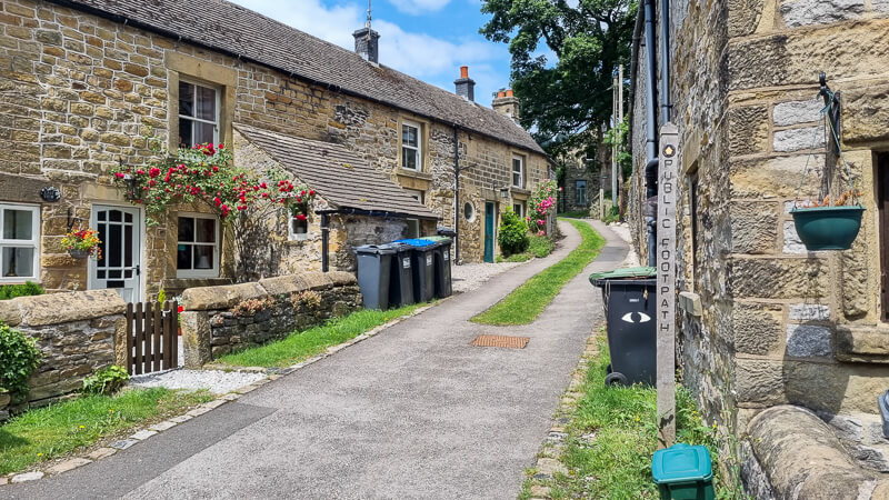 Small street with houses