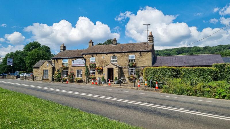 The Plough Inn pub at Hathersage